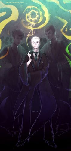 Awesome Malfoy Crab and Goyle Harry Potter Art