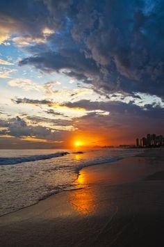 Sunset, Barra da Tijuca, Rio de Janeiro, Brazil.