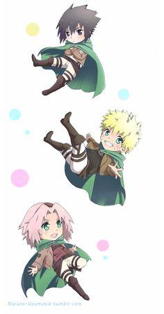this is too cute, like little naruto, sasuke and sakura elfs ahha