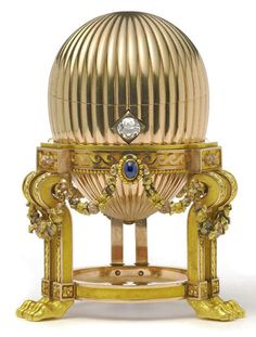 1887 Third Imperial Egg Presented by Alexander III to Maria Feodorovna  Made in Saint Petersburg Owner: Private Collection
