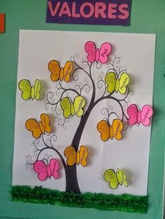 we could have a tree and add to tree different kind of fruits as a points Diy And Crafts, Crafts For Kids, Arts And Crafts, Paper Crafts, Class Decoration, School Decorations, Classroom Board, Classroom Decor, School Projects