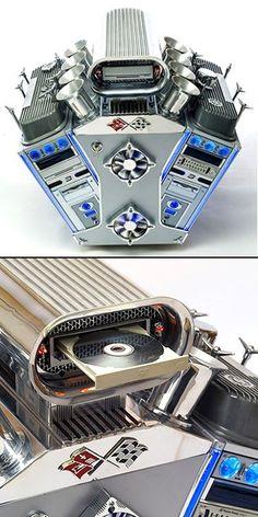 V8 inspired computer case