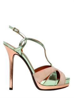 FENDI - 140MM TWISTED CALFSKIN SANDALS