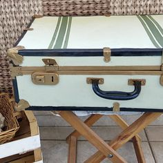 A Vintage Suitcase Makeover - The Boondocks Blog