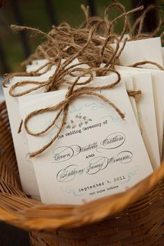 rustic wedding ceremony programs