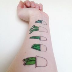 Cute Cactus Temporary Tattoos by LauraJaneSomething on Etsy Real Tattoo, Get A Tattoo, Cute Tattoos, New Tattoos, Tatoos, Amazing Tattoos, Tatoo Flowers, Kaktus Tattoo, Best Tattoo Ever