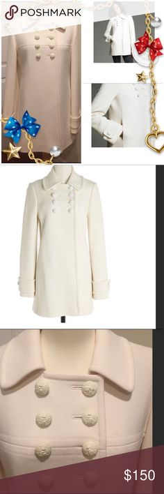 J Crew Greta Double Cloth❄️ In excellent condition!  The only signs of wear is the slight rub on the buttons, but I think it adds an antique look.  Freshly dry cleaned. Ivory/winter white in color. J. Crew Jackets & Coats