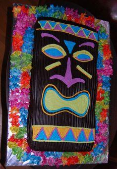 Hawaii tiki cake