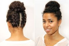 The Double Braid Bun   29 Awesome New Ways To Style Your Natural Hair