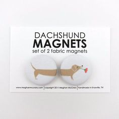 Set of 2 Magnets | Dachshund