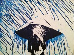Drizzle: Original Melted Crayon Art