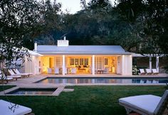 pool and pool house. I like the idea of having a covered porch on the casita.