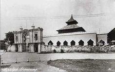 Masjid Kauman Semarang tempo dulu.