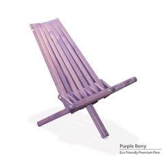 GloDea Eco-friendly X30 Assembled Foldable Beach Chair (Purple berry), Patio Furniture (Pine)