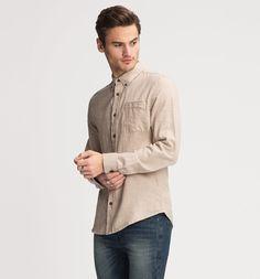Frontimage view Regular Fit shirt in beige-melange