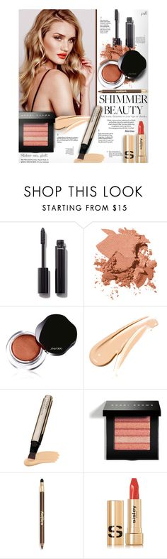 """""""Shine On: Shimmer Beauty"""" by thewondersoffashion ❤ liked on Polyvore featuring beauty, WALL, Chanel, Bobbi Brown Cosmetics, Whiteley, Shiseido, By Terry, Sisley, RosieHuntingtonWhiteley and shimmerbeauty"""