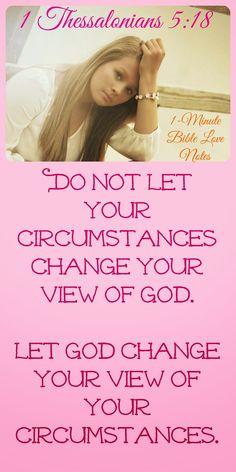 Let God change your