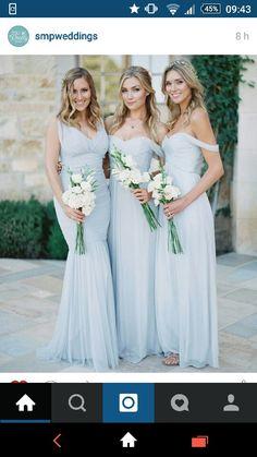 Bridesmaid dresses gorgeous light blue