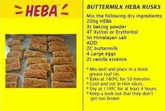 Hebapap rusks Banting Recipes, Low Carb Recipes, Keto Cake, Protein Pancakes, Vanilla Essence, Healthy Options, Snacks, Meals
