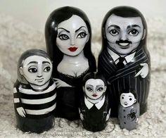 Addams Family nesting dolls.