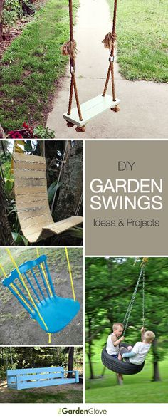 DIY Garden Swings • Lots of Ideas  Tutorials!