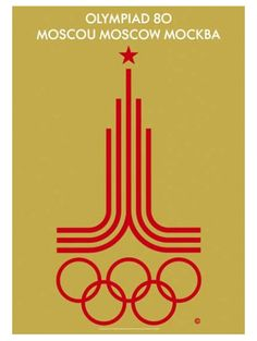 MOSCOW 1980 OLYMPIC SUMMER GAMES Official Poster Reprint ~ Available at www.sportsposterwarehouse.com