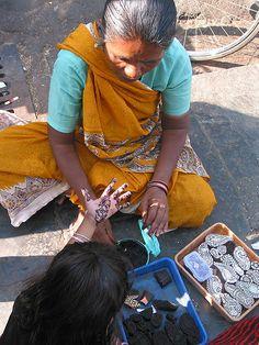 """Henna (Mehndi) Designing using Wooden Blocks Stamps  Mehndi as an """"ART""""  Mehndi…"""