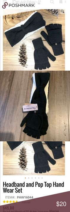 🎉 BNWT Bearpaw Headband and Gloves Set ✅ Super fuzzy and warm.   ✅ Never worn and very cute.   ✅ Gloves have half fingers with a flip top to become mittens for full coverage.   ✅ Perfect for the colder weather.   Retails for $45. BearPaw Accessories Hats Cold Weather, Mittens, Fingers, Women Accessories, Gloves, Warm, Cute, Top, Things To Sell