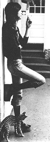 Rita Lee e uma jaguatirica