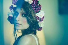 Andrei Fantana's Retro Adventures Series is Quietly Whimsical #flowercrowns #musicfestivals trendhunter.com