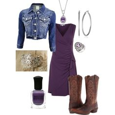 Dress down an old bridesmaid dress by adding a denim jacket, cowboy boots and some western style jewelry Western Bridesmaid Dresses, Polyvore Dress, Free Blog, Luxury Fashion, Fashion Trends, Streetwear Brands, Fashion Jewelry, White Dress, Jackets