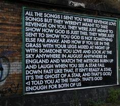 Robert Montgomery Street Art. He writes what we feel.