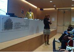 2015 Tula Fdez Maqueira (IES Clara Campoamor)  con Miguel Ángel Lucero (IES Almina) en V Encuentro eTwinning de profesores en castellano 'Proyecta eTwinning'