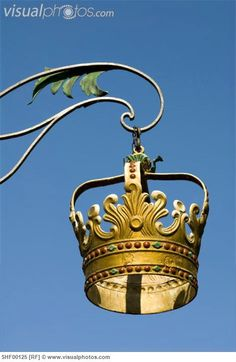 Germany, Lindau, Kronengasse, golden guild sign