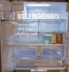 Just 3 Ingredients to Clean You Refrigerator and Freezer via Clean Mama