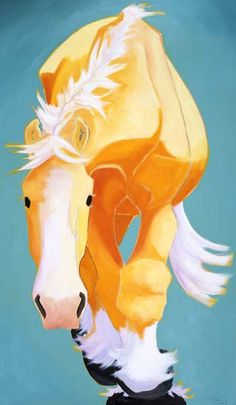 Katie Upton - Life size horse paintings
