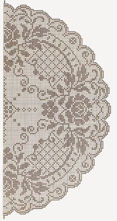 This Pin was discovered by Tat Crochet Tablecloth Pattern, Crochet Doily Diagram, Filet Crochet Charts, Crochet Curtains, Crochet Doily Patterns, Thread Crochet, Crochet Motif, Crochet Doilies, Crochet Round
