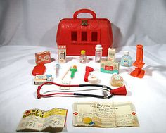 Old Fashioned Doctor's Kit, I got in trouble for playing with one of these with the boy next door hahaha