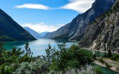 Lataa kuva Lillooet Lake, Mountain lake, Kanada, vuoret, kesällä, British Columbia