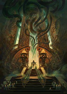 underground fantasy for your pleasure Dark Fantasy Art, Fantasy Artwork, Fantasy Concept Art, Dark Art, High Fantasy, Fantasy Places, Fantasy World, Arte Horror, Horror Art