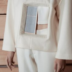 Constructing Voids with Charlotte Ham | The Cutting Class. Garments from Void by Charlotte Ham's label I C E, Image 2. Detail of frame within garment.