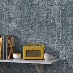 Vliesbehang stof zara blauw (dessin 105146) kopen? behang | KARWEI