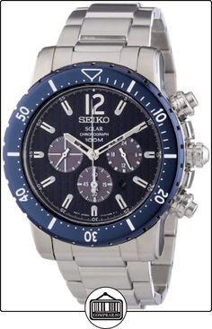 Seiko  Solar - Reloj de automático para hombre, con correa de acero inoxidable, color plateado de  ✿ Relojes para hombre - (Gama media/alta) ✿