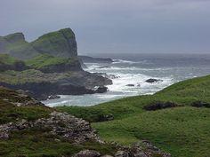 Cliffs under dark clouds, Isle of Islay