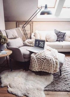 Modern Rugs transforming your home. Living Room Alive is a new concept that is arising, where contemporary rugs are slowly becoming ever more important in a hom Room Rugs, Rugs In Living Room, Home And Living, Living Room Decor, Bedroom Decor, Cozy Living, Decor Room, Bedroom Lighting, Soft Flooring