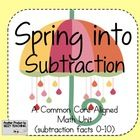 This is a super SUBTRACTION unit designed around the Common Core standards. My kiddo's LOVE IT!