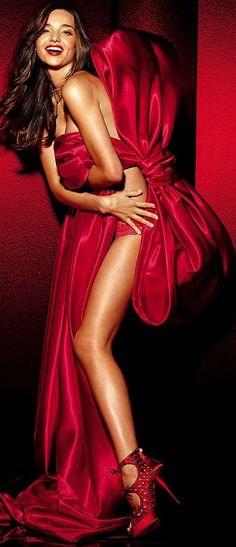 Miranda Kerr for Victoria's Secret Holiday Campaign/ Red