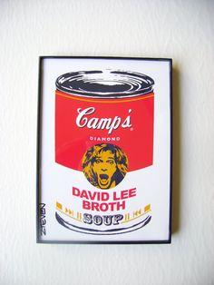 David Lee Roth of Van Halen Framed Pop Art Soup by Zteven
