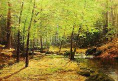 Forest Stream, Josef Procházka. Czech (1909 - 1984) - Oil on Canvas -