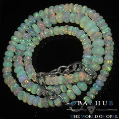 "60 Cts 16"" Natural Ethiopian Welo Fire Opal Smooth Rondelle Beads Necklace 8260"